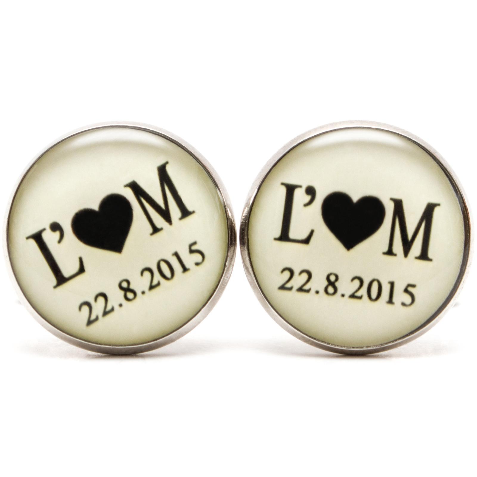♥  Manžetové gombíky na mieru - presne podľa Tvojich predstáv ♥ - Manžetky svadobné 008.