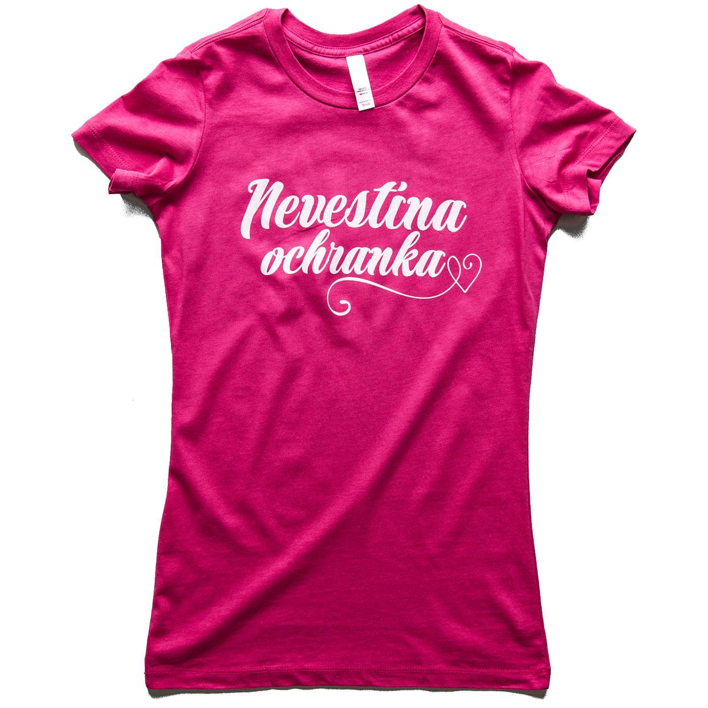 Nevestička a Ženích ♥ - trička na želanie podľa vlastných predstáv - Nevestina ochranka