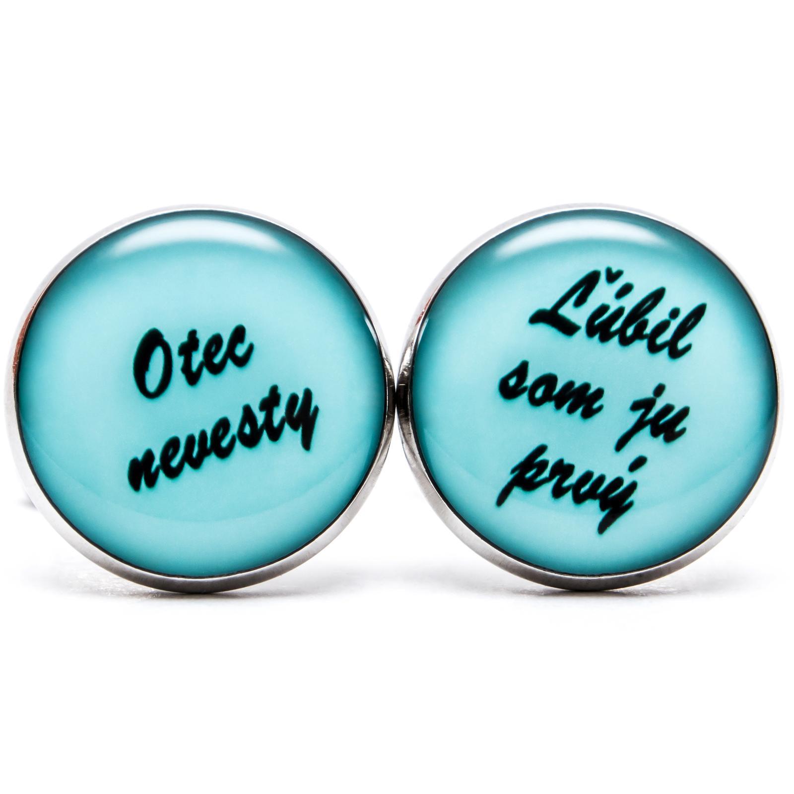 ♥  Manžetové gombíky na mieru - presne podľa Tvojich predstáv ♥ - Otec nevesty v azúrovo modrej