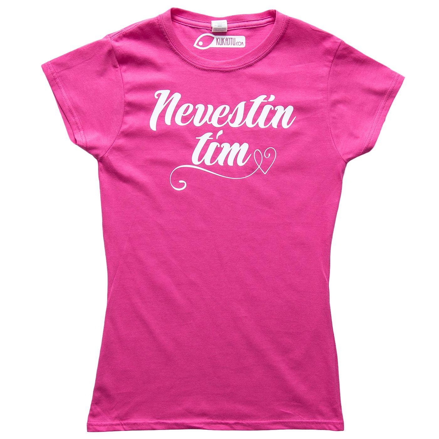 Nevestička a Ženích ♥ - trička na želanie podľa vlastných predstáv - Nevestin tím