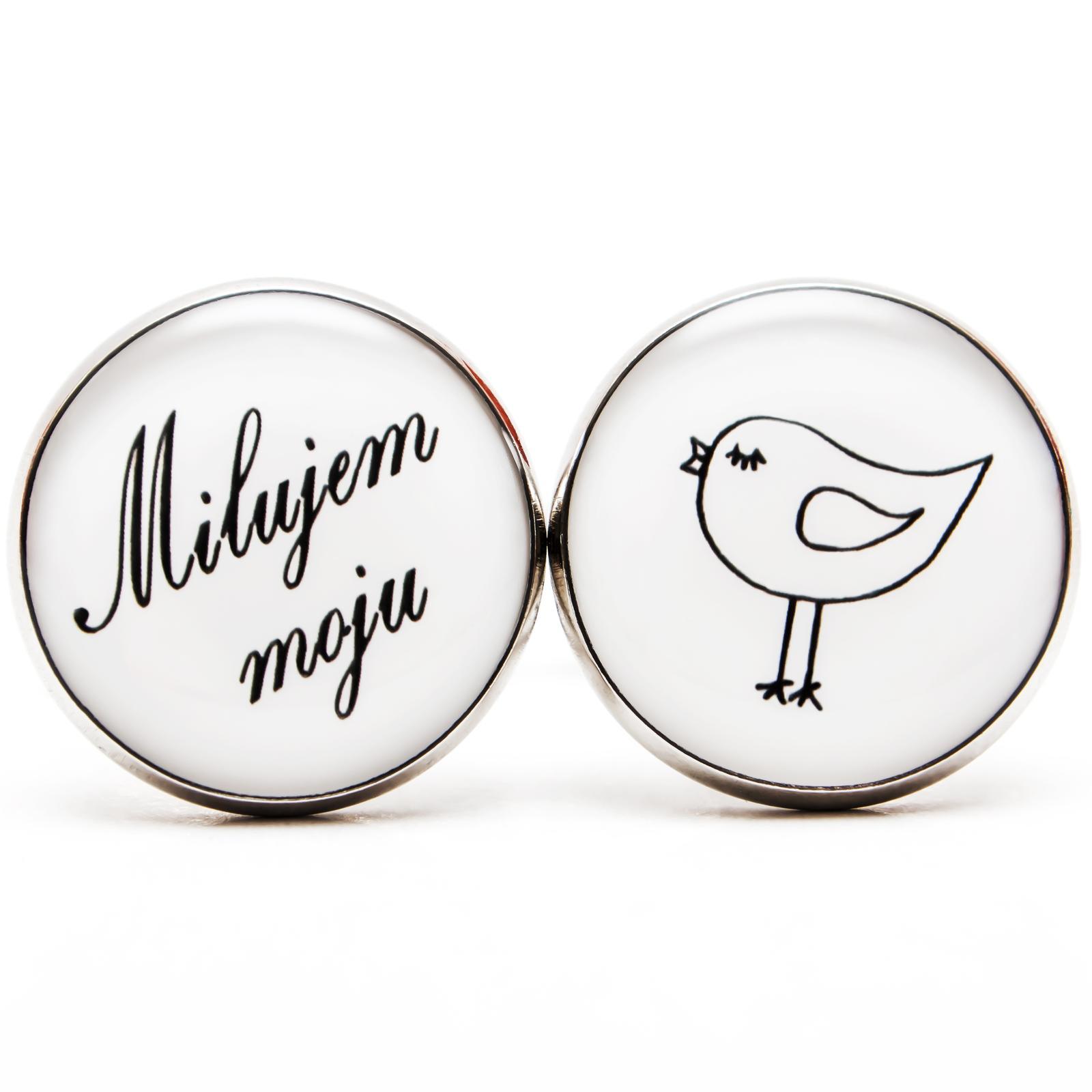 ♥  Manžetové gombíky na mieru - presne podľa Tvojich predstáv ♥ - Milujem moju holubičku