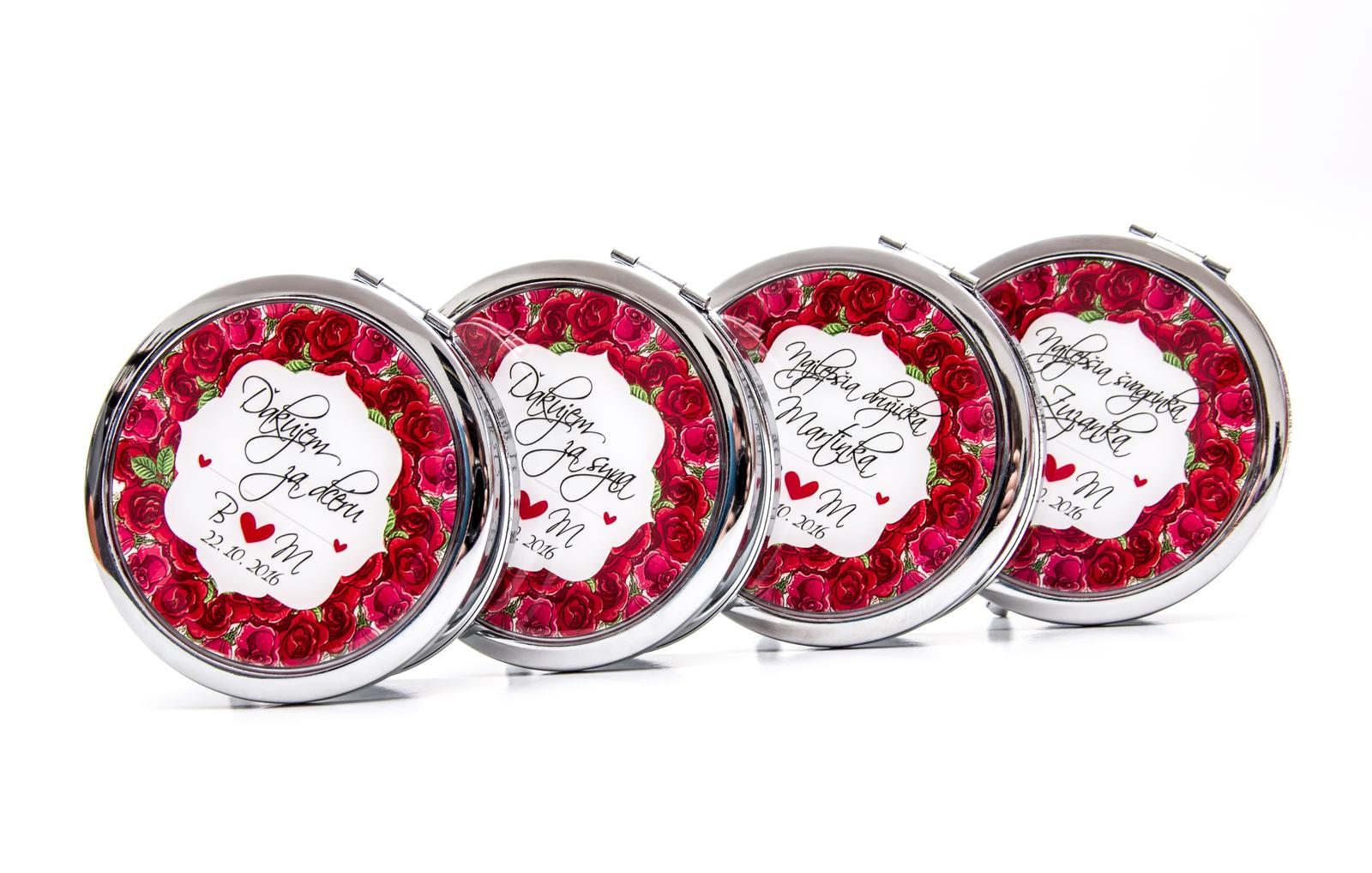 Zrkadielka na želanie - Zrkadielka s motívom ruží