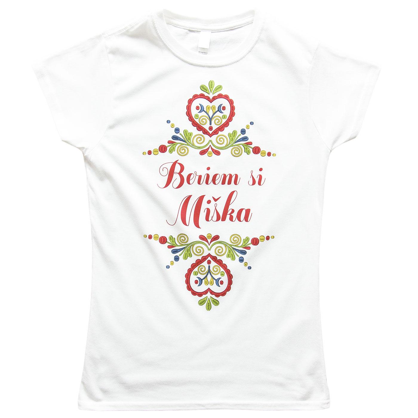 Nevestička a Ženích ♥ - trička na želanie podľa vlastných predstáv - Beriem si .... (na ľudovú nôtu)