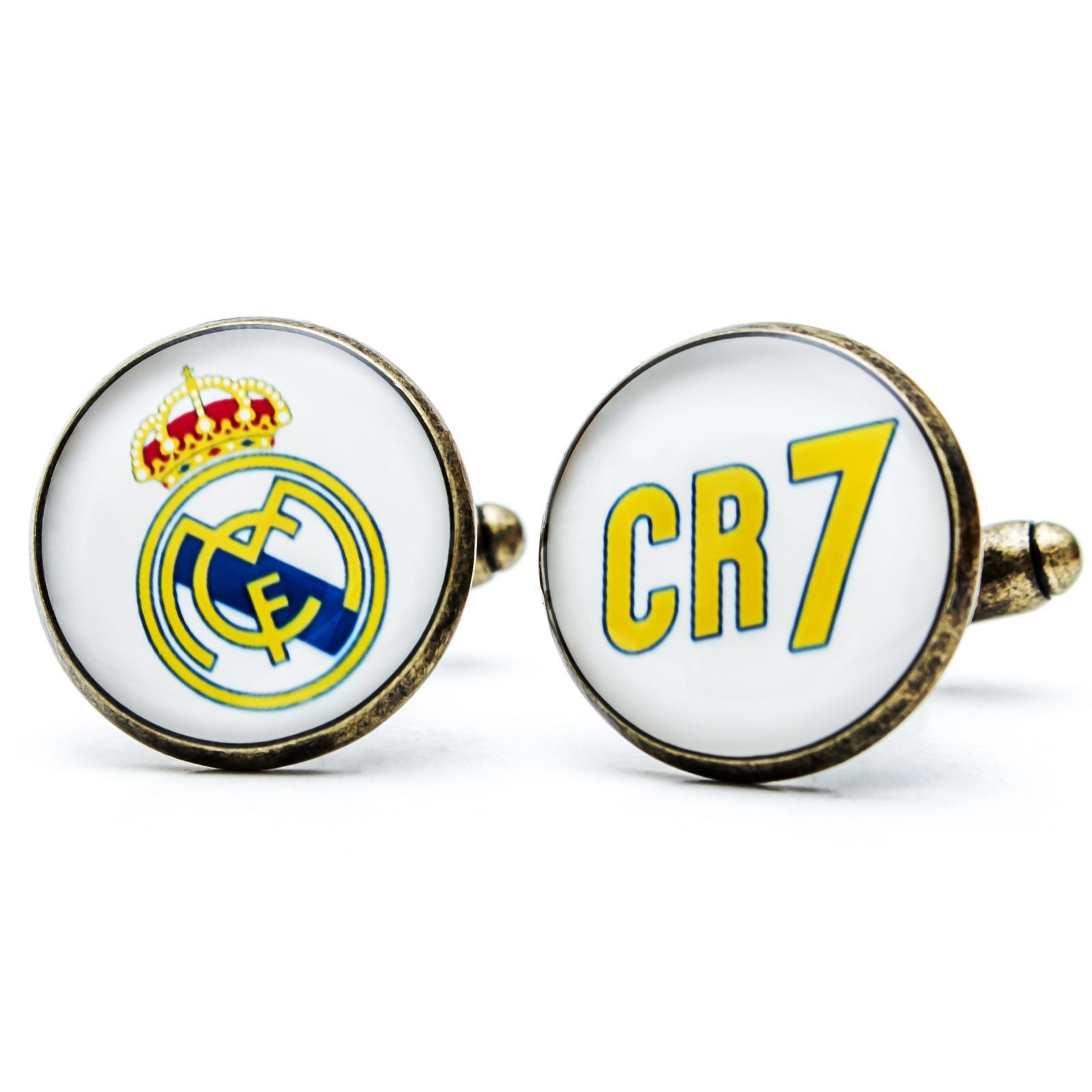 ♥  Manžetové gombíky na mieru - presne podľa Tvojich predstáv ♥ - Manžetky pre fanúšika Ronalda a Realu Madrid - CR7