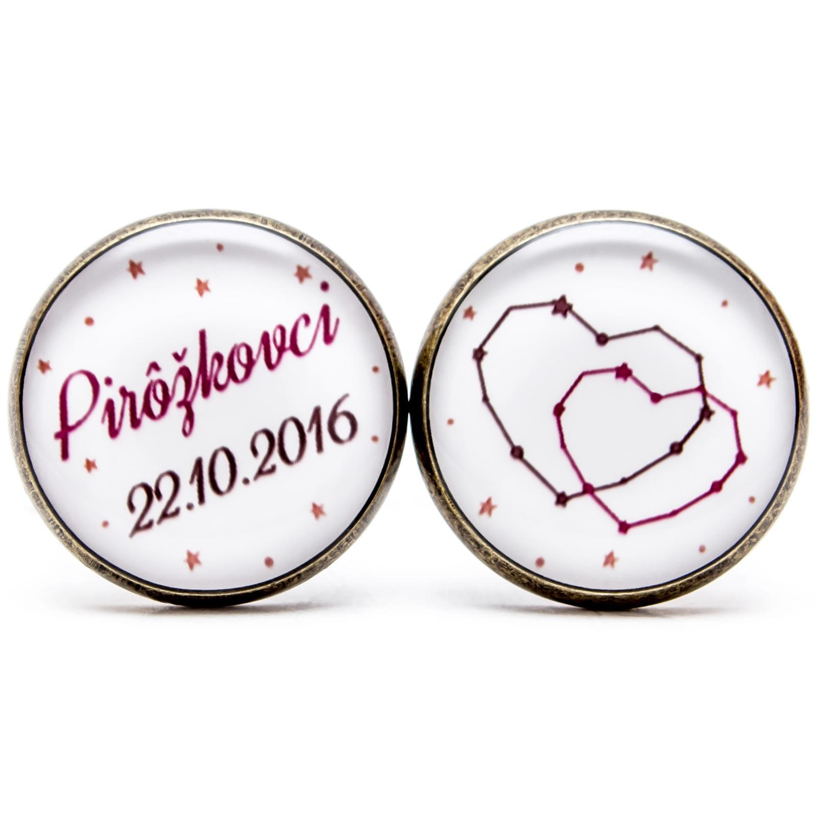 ♥  Manžetové gombíky na mieru - presne podľa Tvojich predstáv ♥ - Láska nebeská