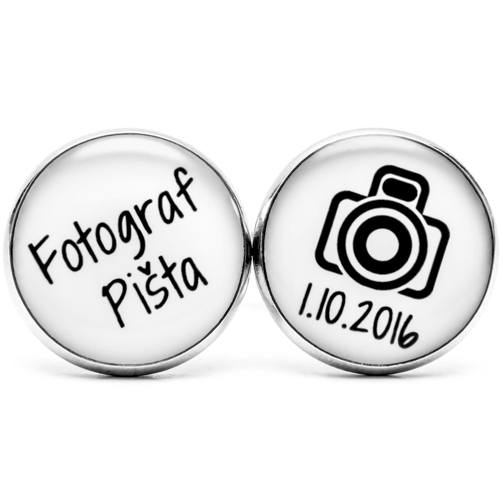 ♥  Manžetové gombíky na mieru - presne podľa Tvojich predstáv ♥ - Manžetky pre fotografa