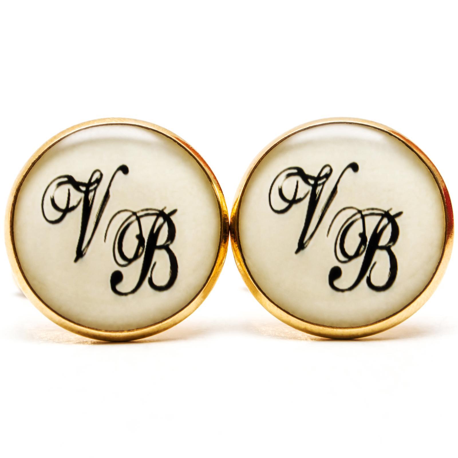 ♥  Manžetové gombíky na mieru - presne podľa Tvojich predstáv ♥ - Manžetky s monogramom