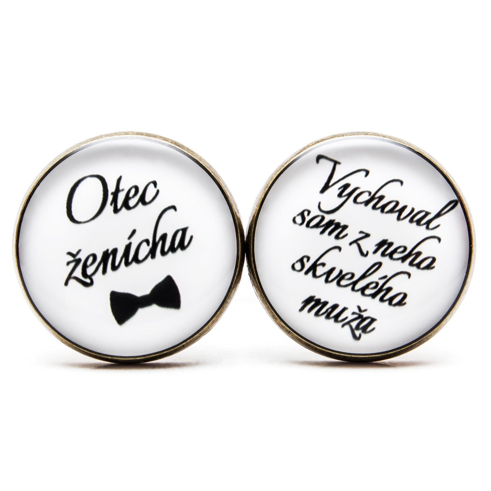 ♥  Manžetové gombíky na mieru - presne podľa Tvojich predstáv ♥ - Otec ženícha - Vychoval som z neho skvelého muža