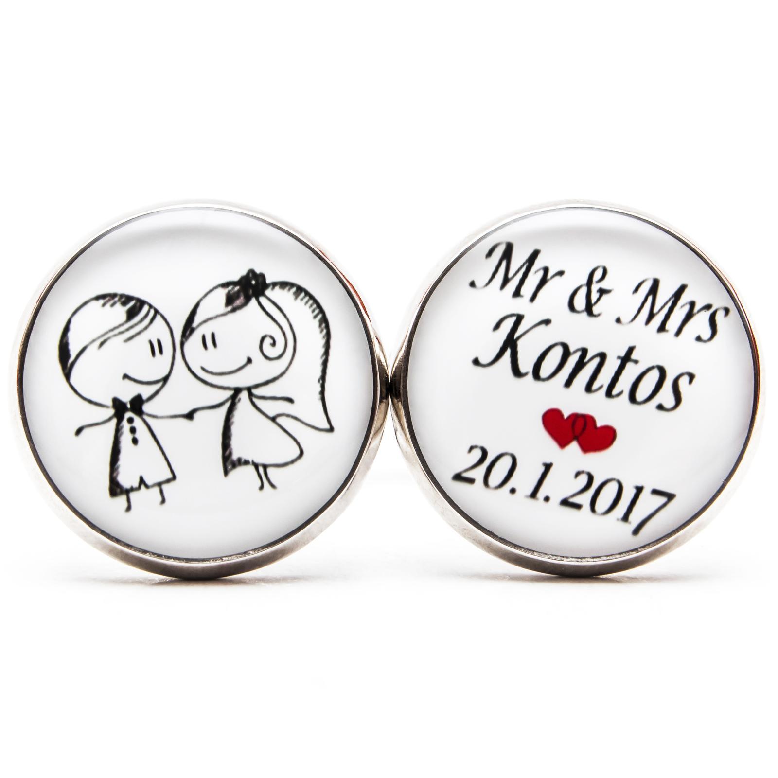 ♥  Manžetové gombíky na mieru - presne podľa Tvojich predstáv ♥ - Mr. a Mrs.