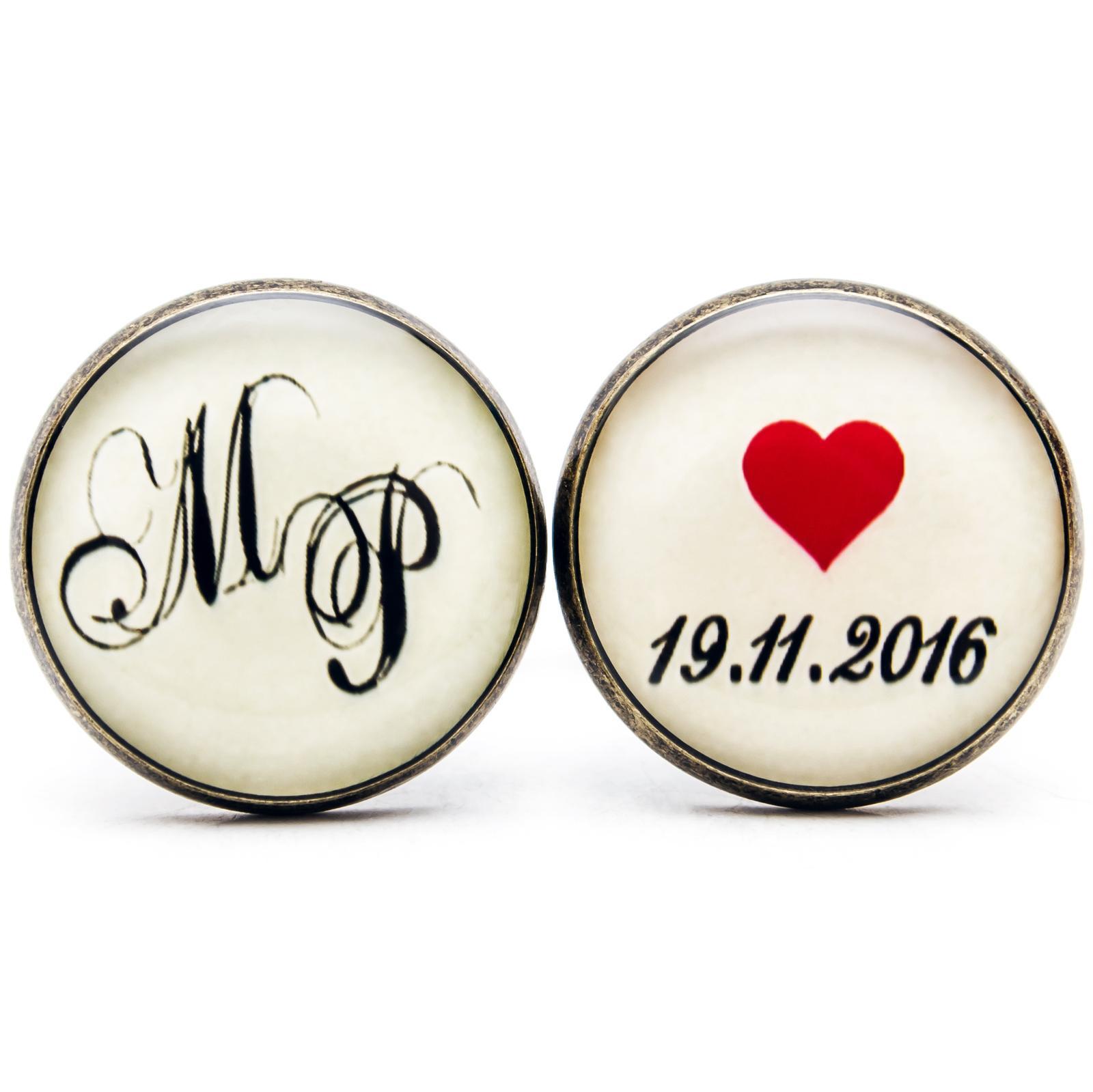 kukajtucom - Deň D - svadobné manžetové gombíky