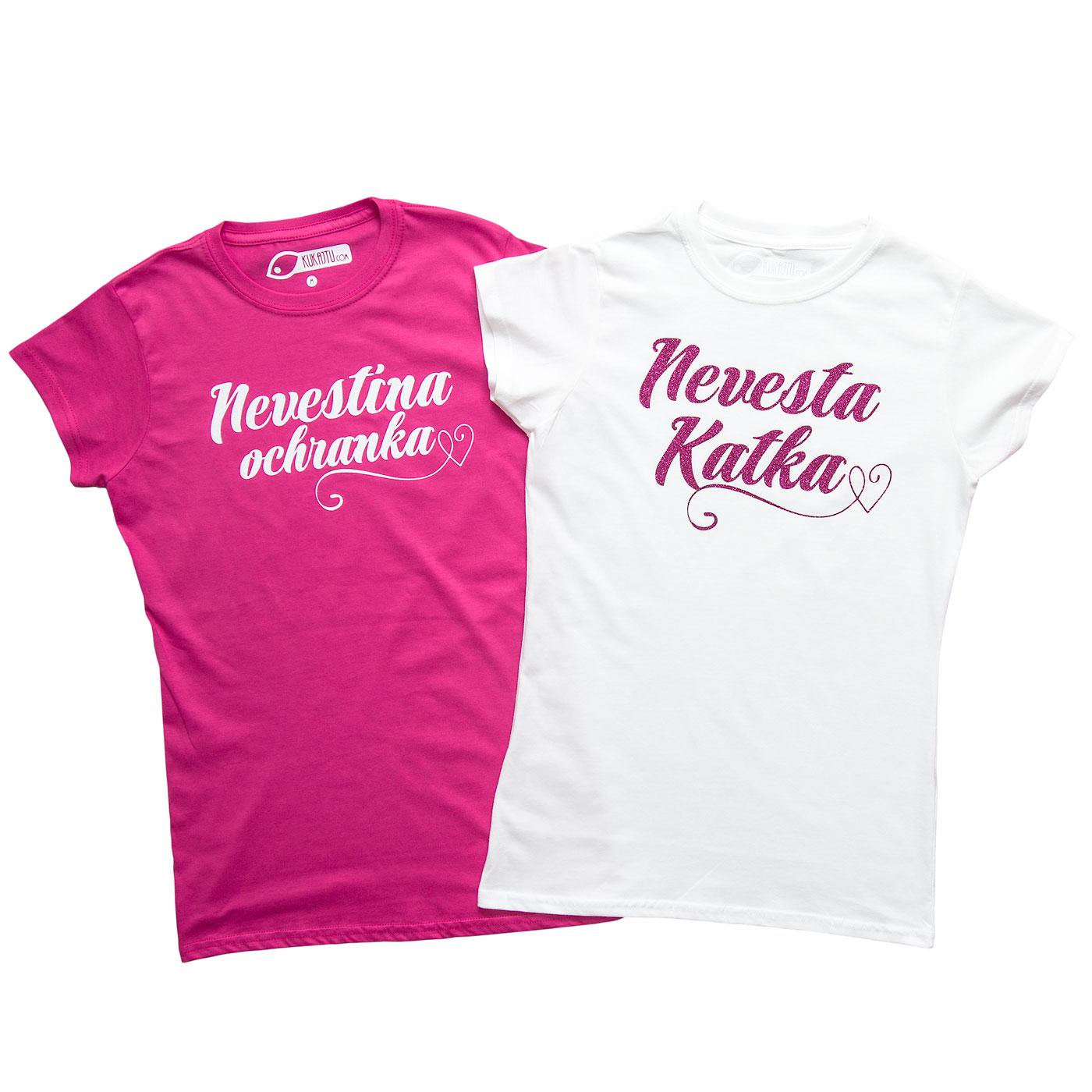 Nevestička a Ženích ♥ - trička na želanie podľa vlastných predstáv - Rozlúčkové tričká