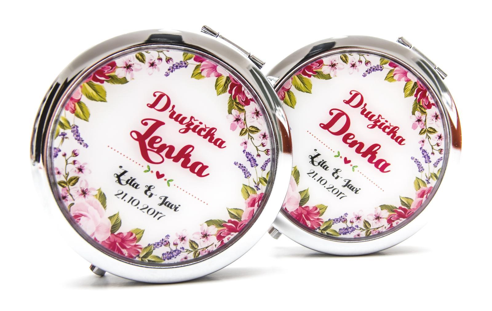 Zrkadielka na želanie - Zrkadielko s kvetinovym motivom II.