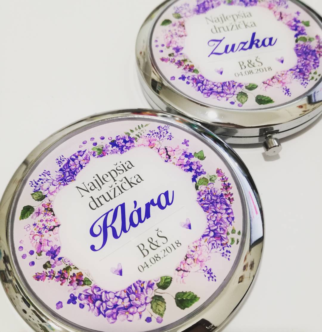 Zrkadielka na želanie - Zrkadielko na želanie vo fialkových odtieňoch