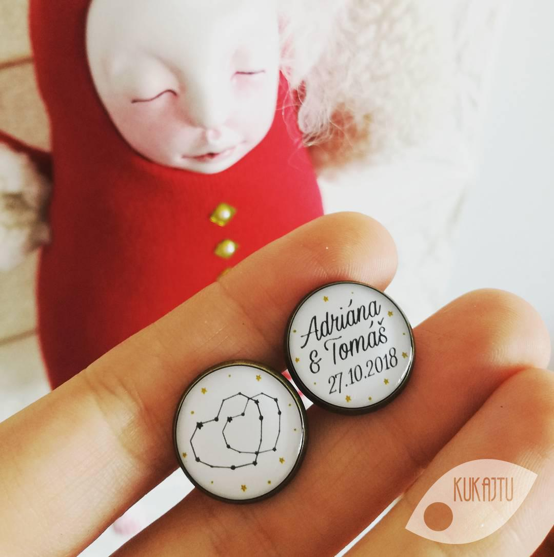 ♥  Manžetové gombíky na mieru - presne podľa Tvojich predstáv ♥ - Vesmírna láska