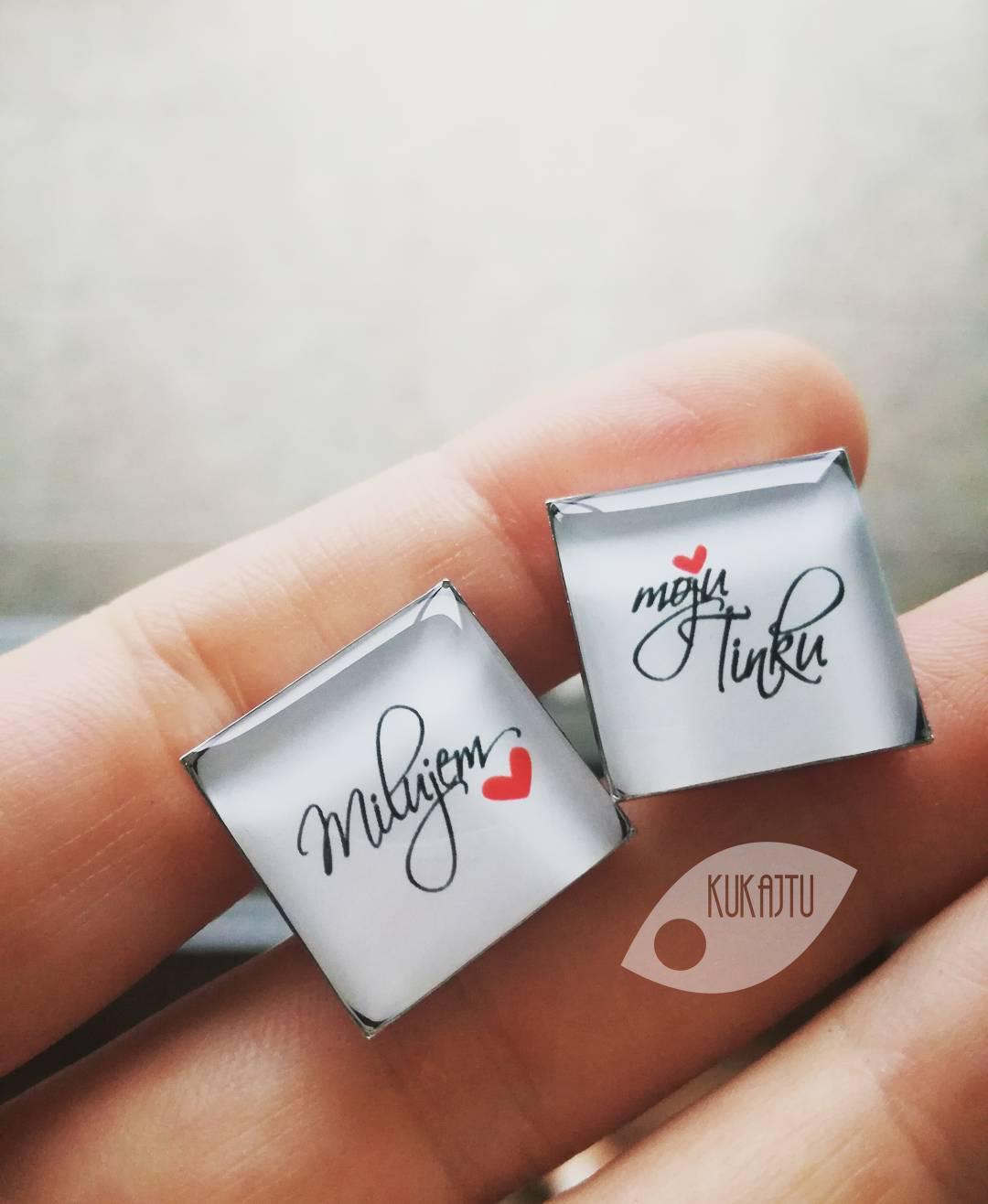 ♥  Manžetové gombíky na mieru - presne podľa Tvojich predstáv ♥ - Milujem ju...