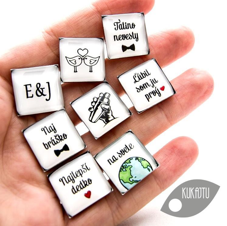 ♥  Manžetové gombíky na mieru - presne podľa Tvojich predstáv ♥ - Obrázok č. 36