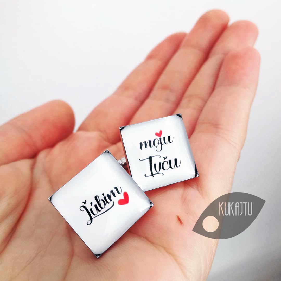 ♥  Manžetové gombíky na mieru - presne podľa Tvojich predstáv ♥ - Ľúbim ju ♥