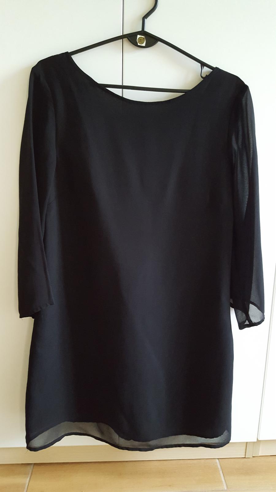 cierna predlzena bluzka - Obrázok č. 1
