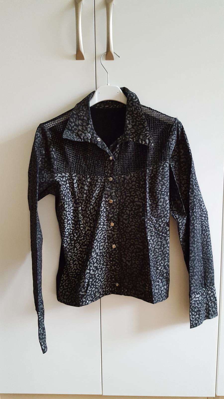 cierno strieborna bluzka - Obrázok č. 1