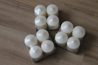bílé svíčky, Ikea