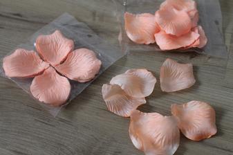 okvětní lístky růží - meruňkové