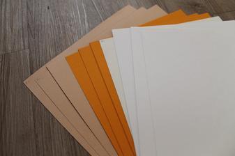 kraftové papíry v našich odstínech..