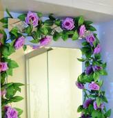 Kvetinová girlanda - svetlo fialová,