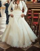 Cipkovane svadobne saty 36-38, 36