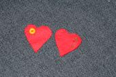 Vývazek srdce červený 38 ks,