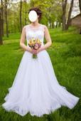 Tylové svatební šaty 38 (-40), 38