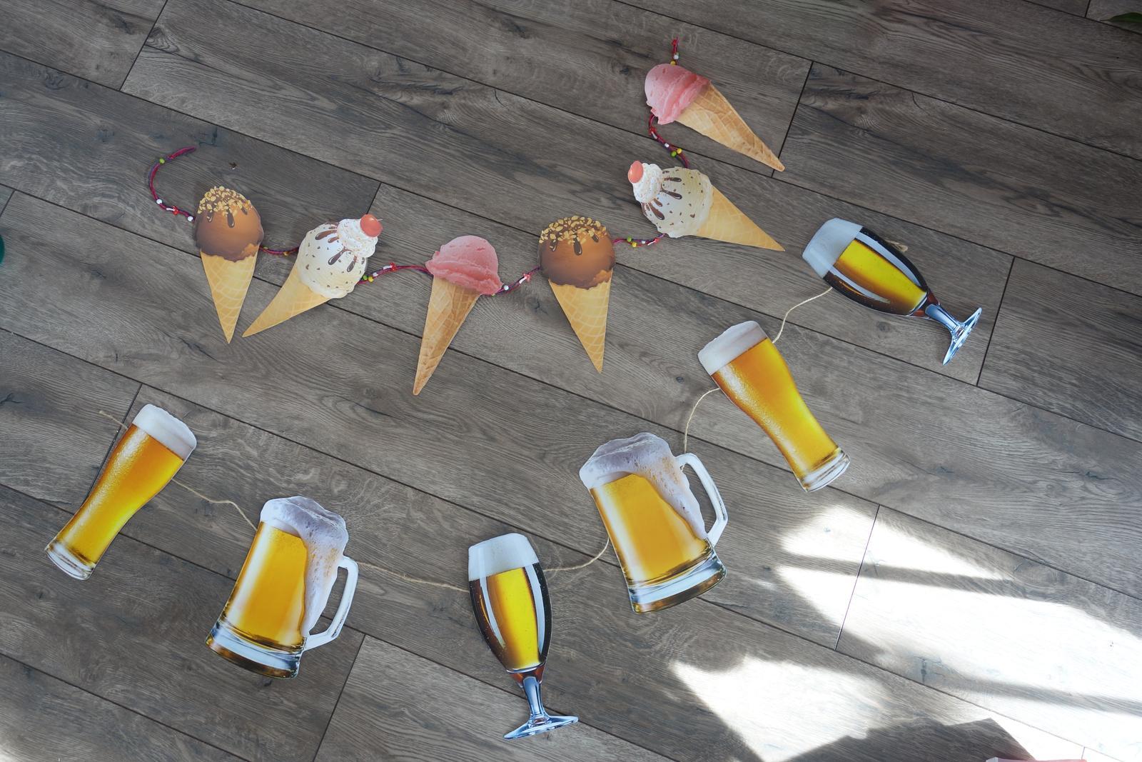 Girlandy zmrzlina a pivo - Obrázok č. 1