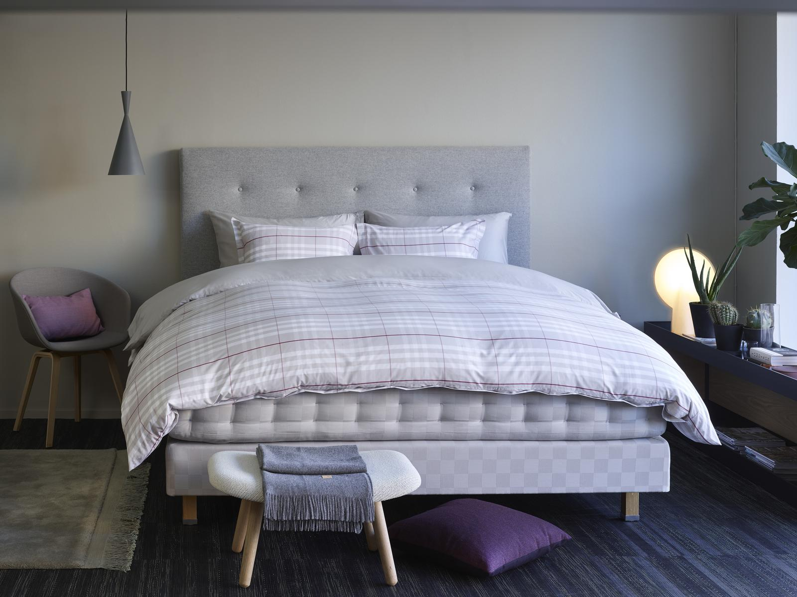 dreambeds - Hästens Solid Grey Check - více na http://postele-hastens.cz/