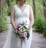 těhotenské svatební šaty , 38