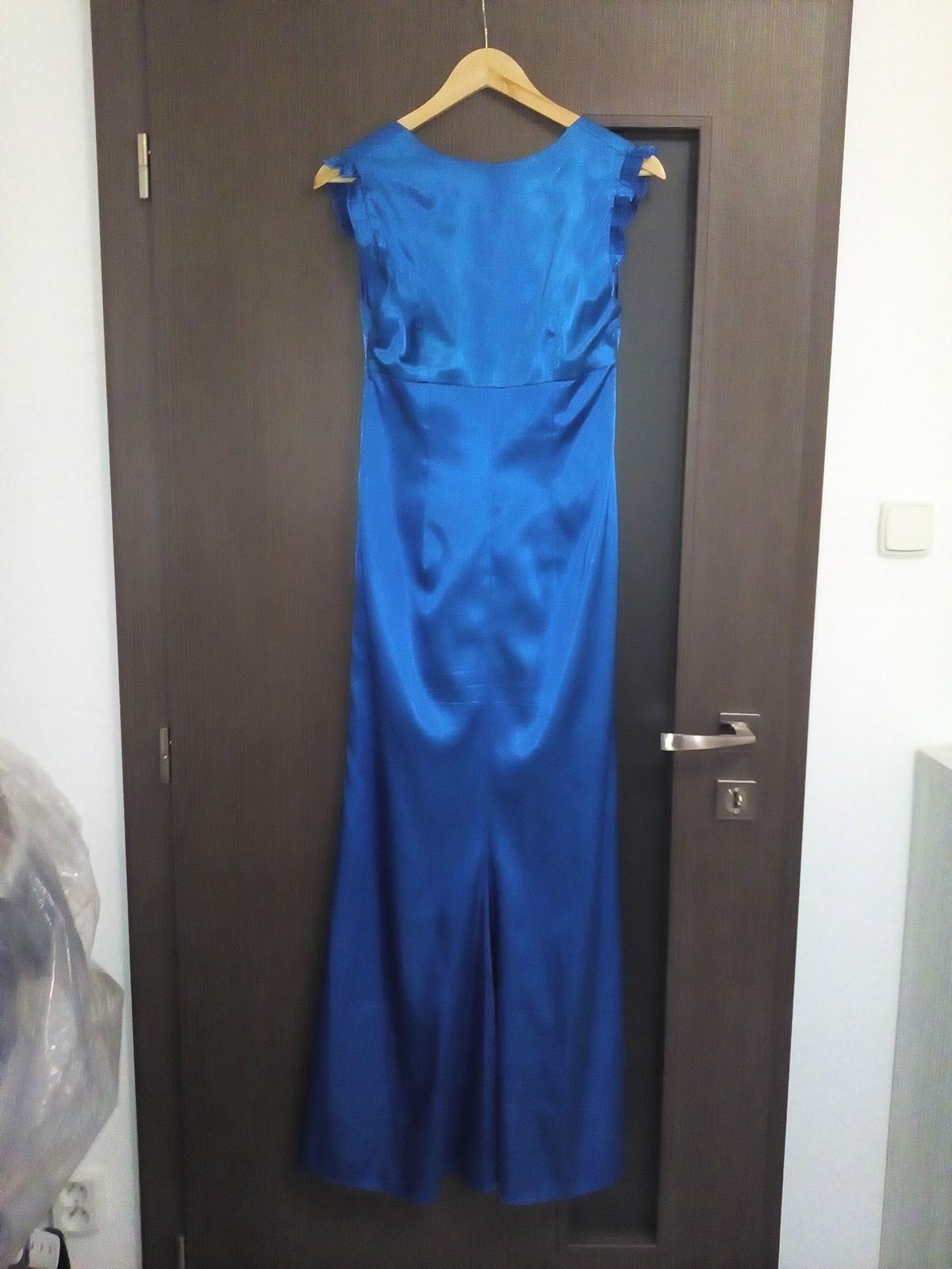 Dlhé saténové šaty - Obrázok č. 3