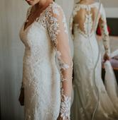 svadobné, posiaté krajkou, 36