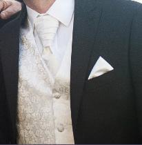 svadobná vesta, kravata, servítka - Obrázok č. 3
