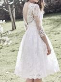 Kratke svatebni šaty, 42