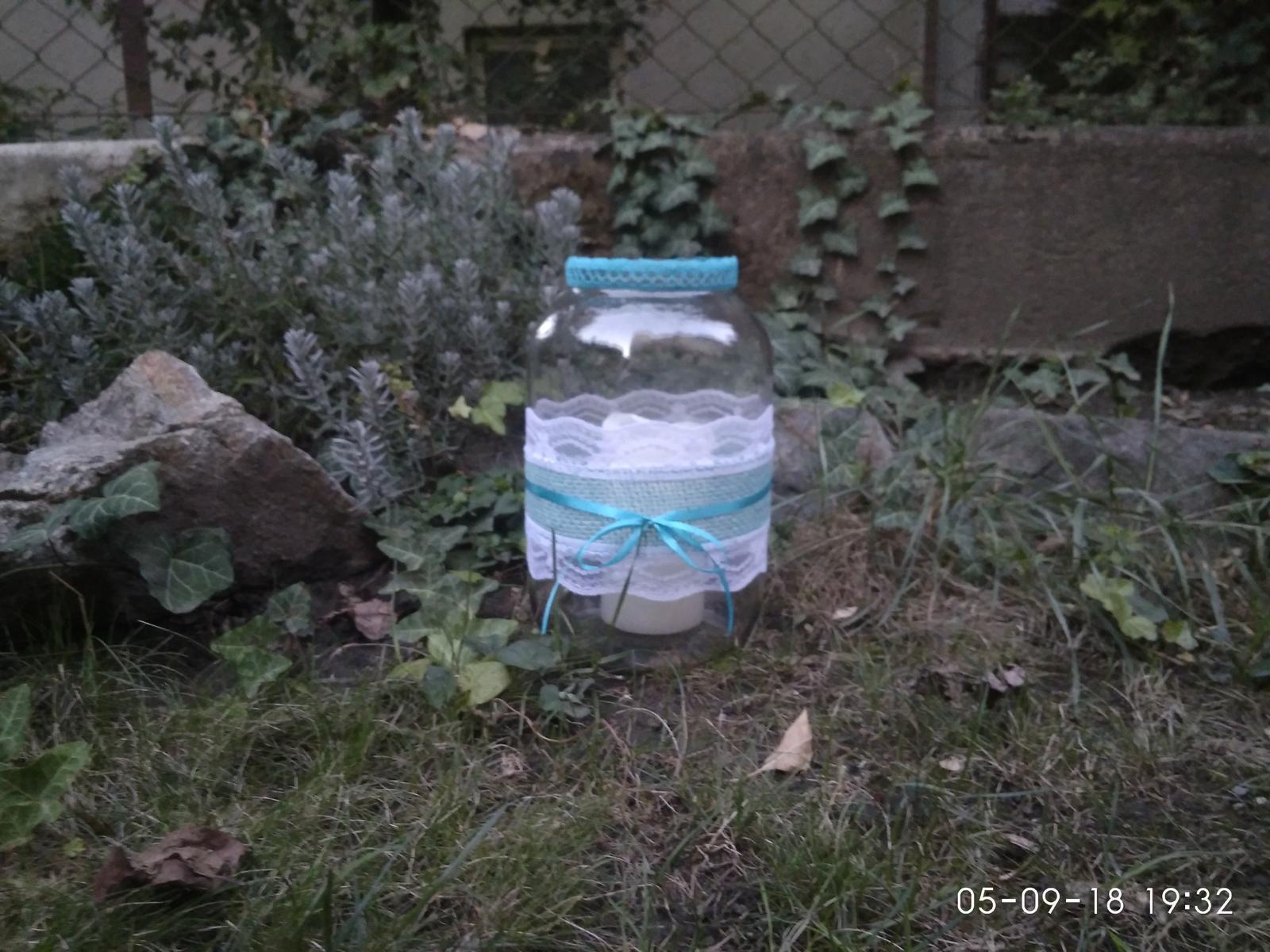 Svícny / lucerny z velkých zavařovacích sklenic - Obrázek č. 4