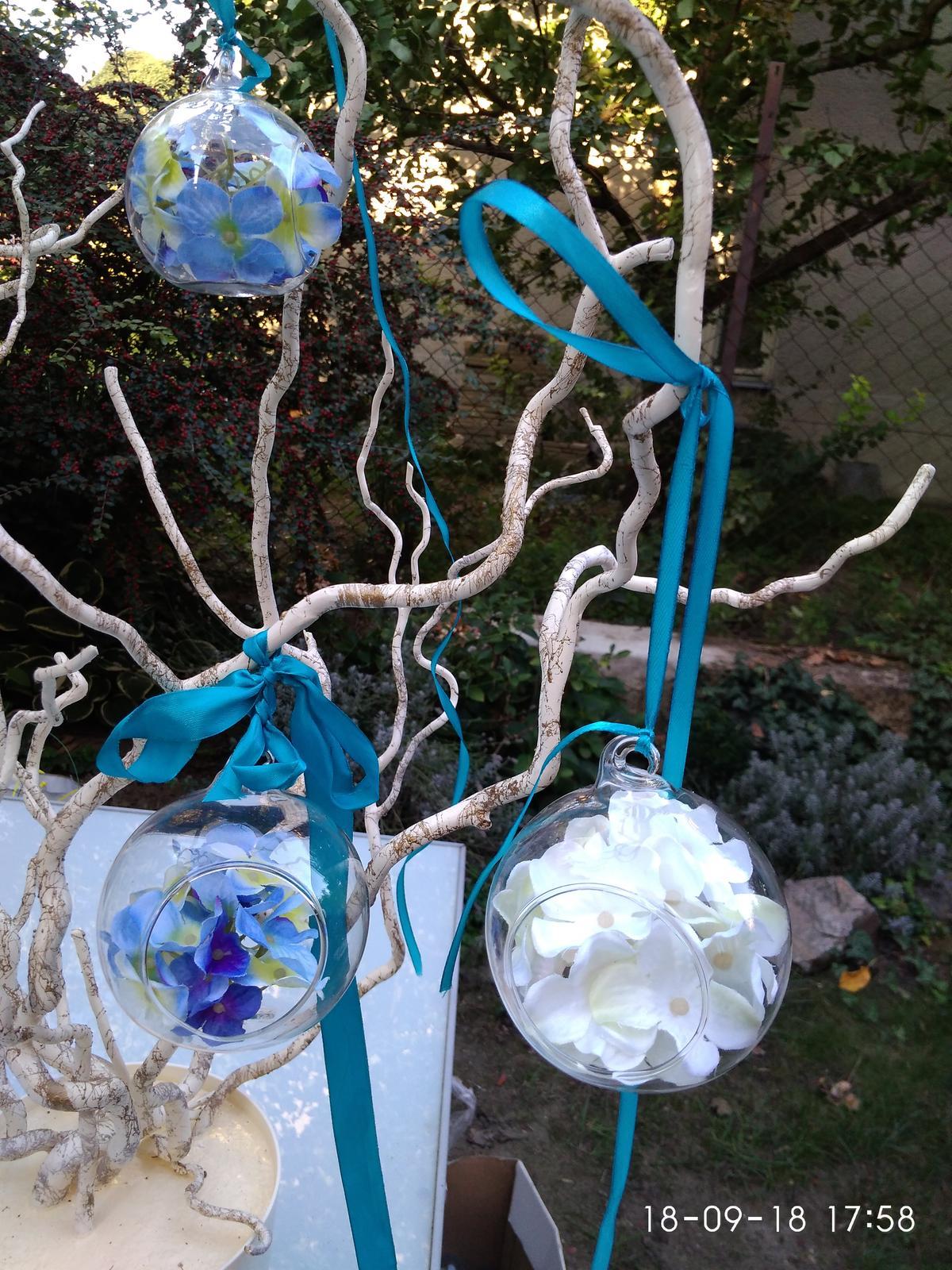 Dekorační strom v květináči krakelovaná zlatá - Obrázek č. 3