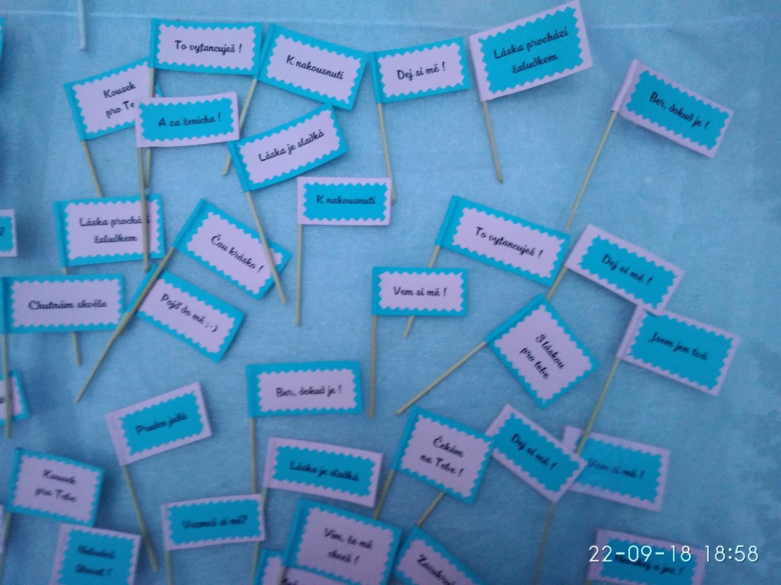 Zápichy do sladkého koutku, růžovo-modrá - Obrázek č. 2