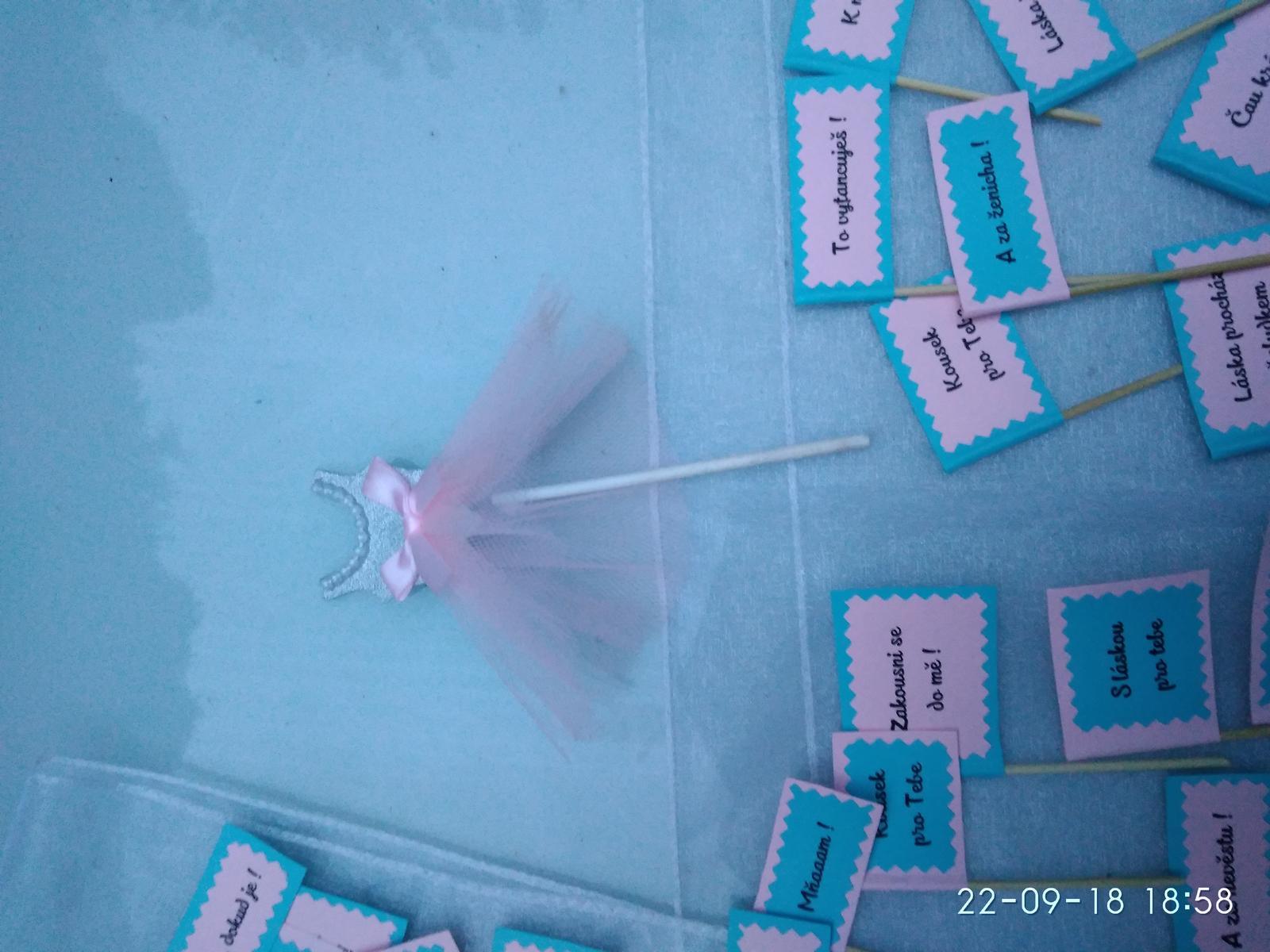Zápichy do sladkého koutku, růžovo-modrá - Obrázek č. 3