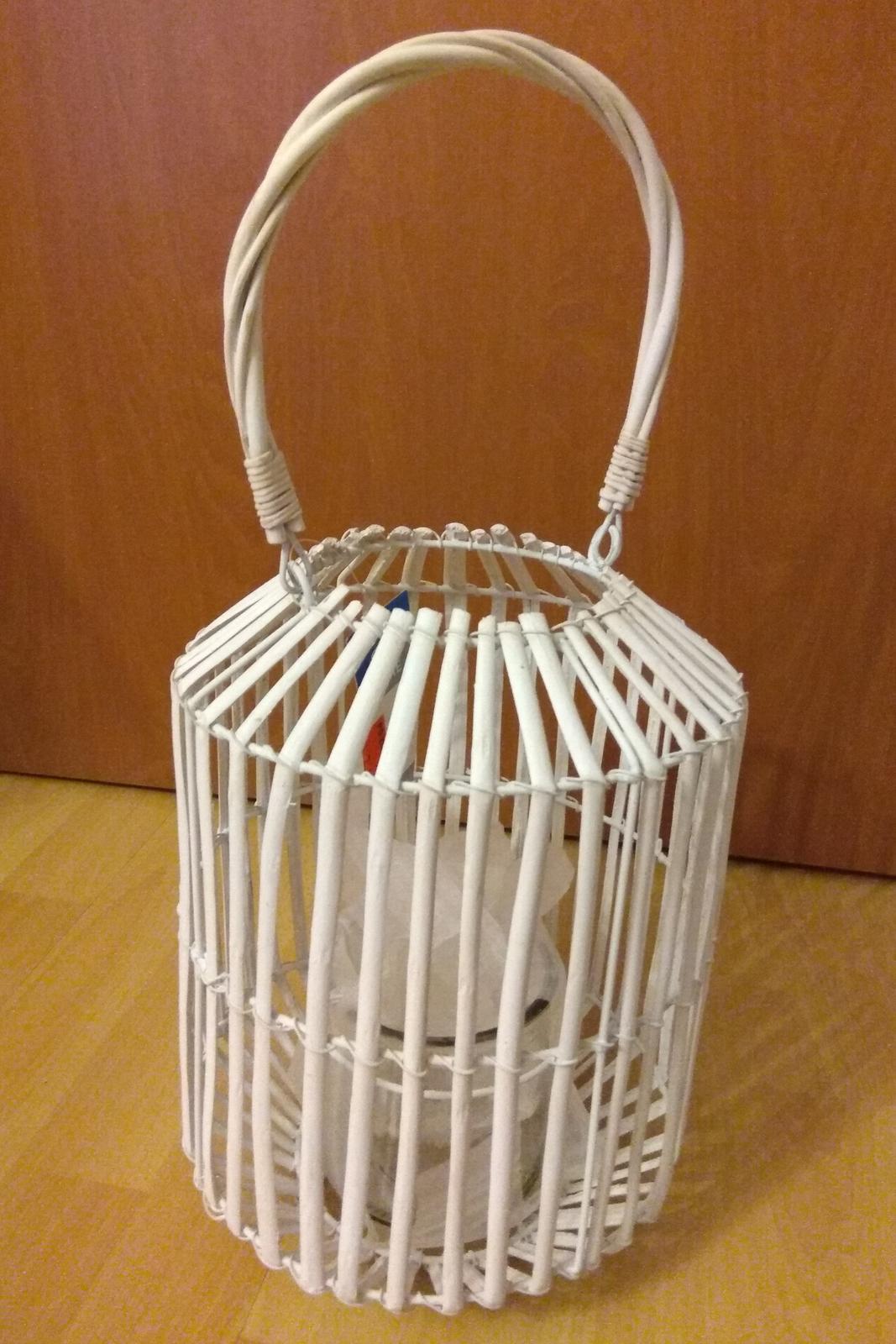 Velká proutěná lucerna, svícen - Obrázek č. 1