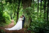 ivory svatební krajkové šaty s vlečkou, 40