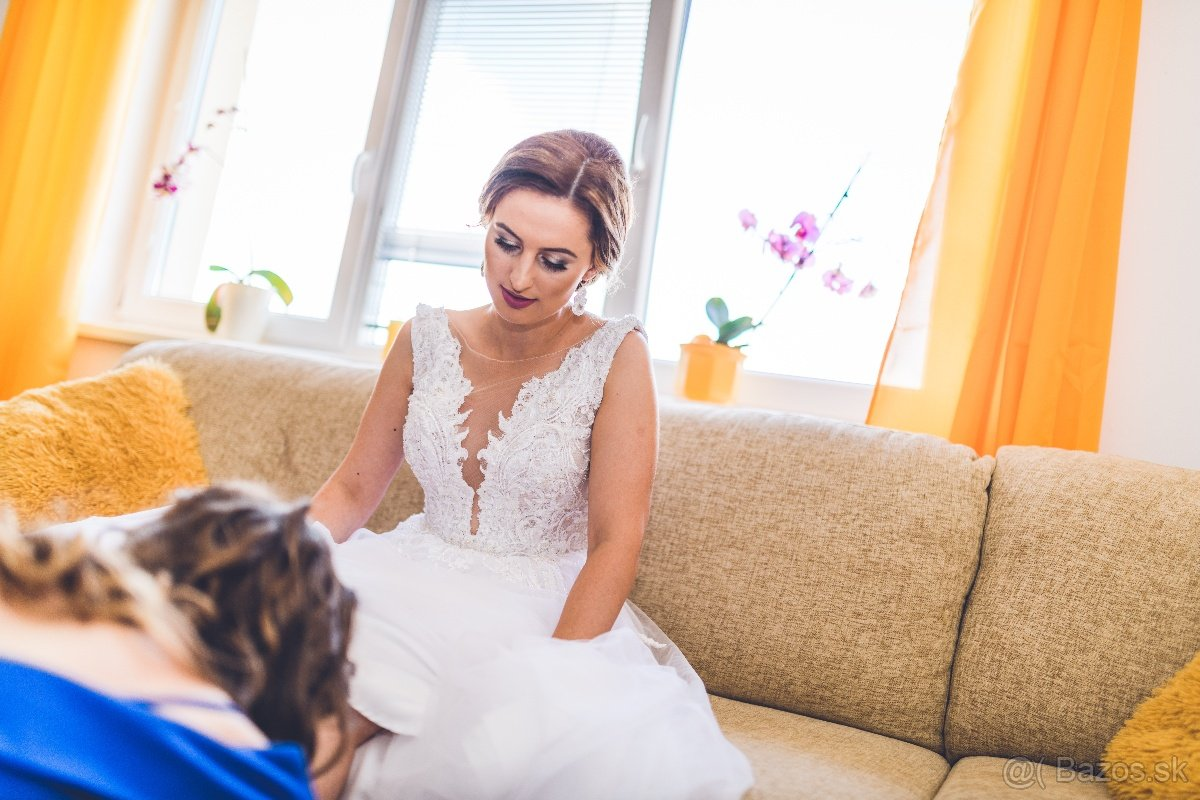 Svadobné šaty 160cm - Obrázok č. 2