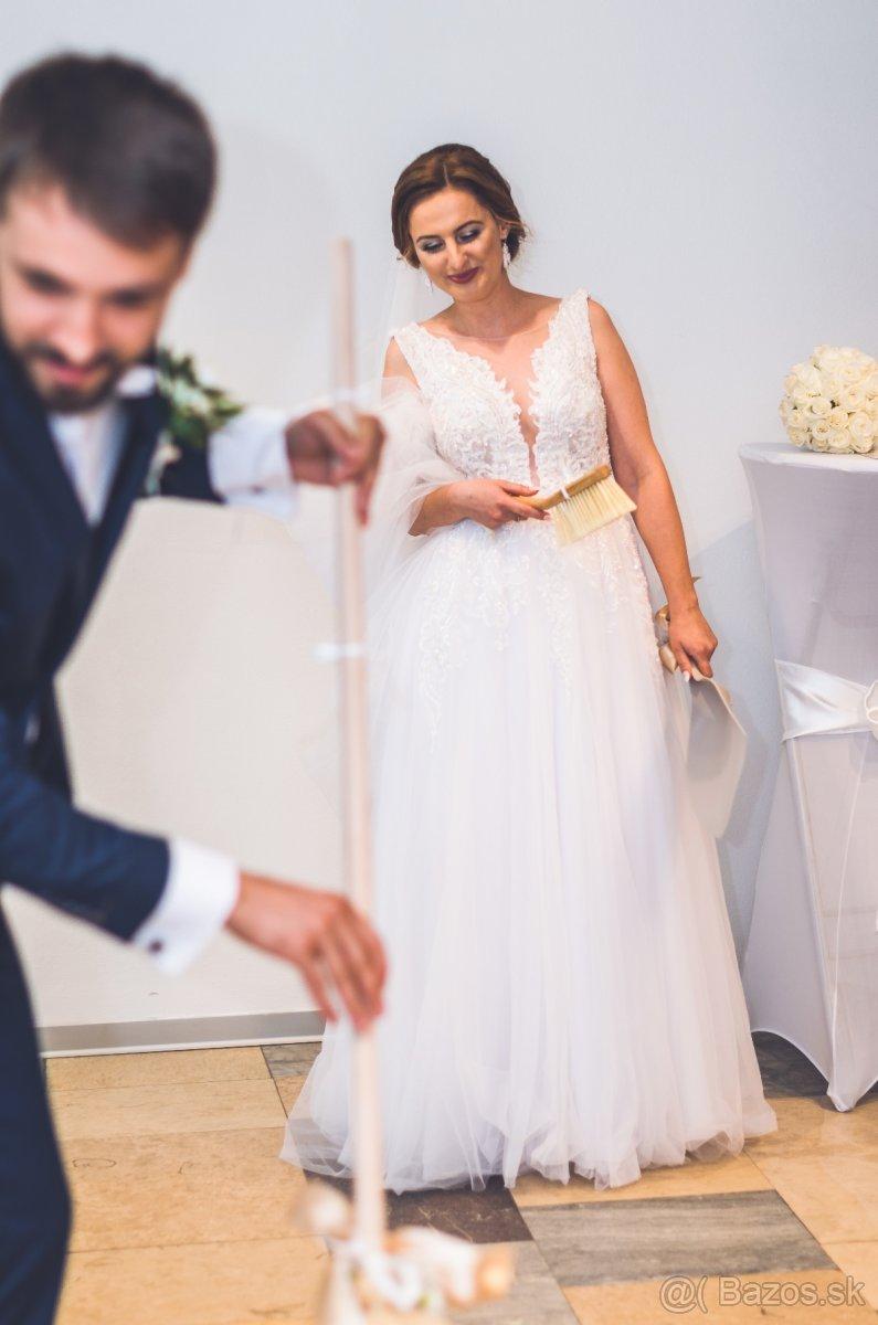 Svadobné šaty 160cm - Obrázok č. 3