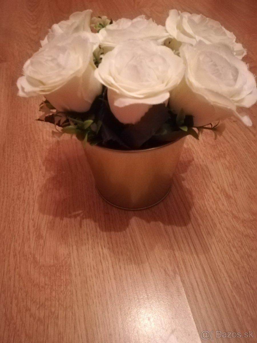 Svadobné kvety bielo-zlaté - Obrázok č. 1