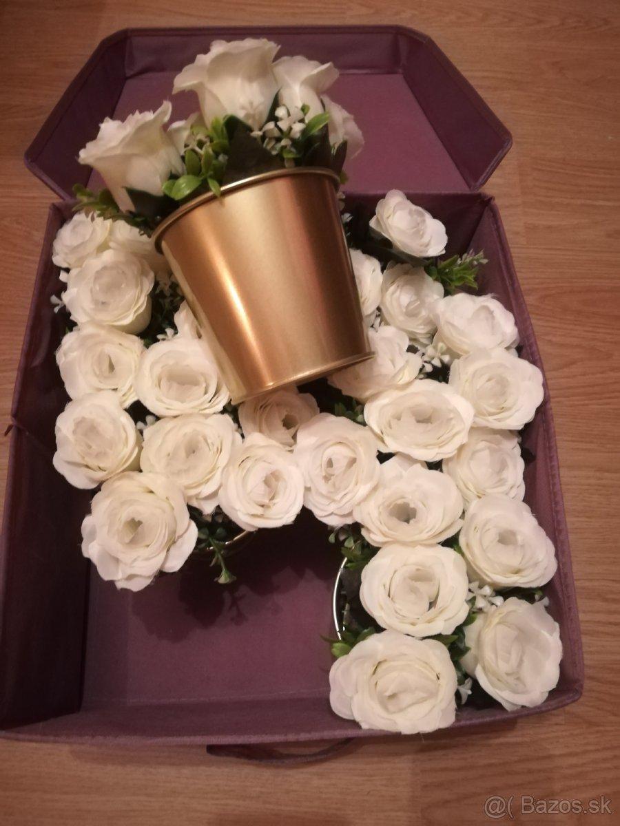 Svadobné kvety bielo-zlaté - Obrázok č. 2