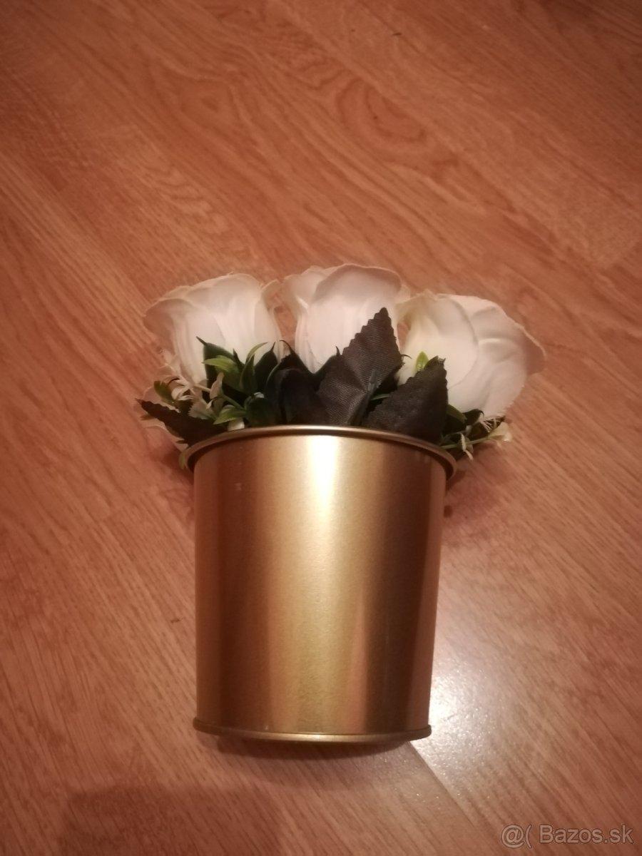 Svadobné kvety bielo-zlaté - Obrázok č. 3
