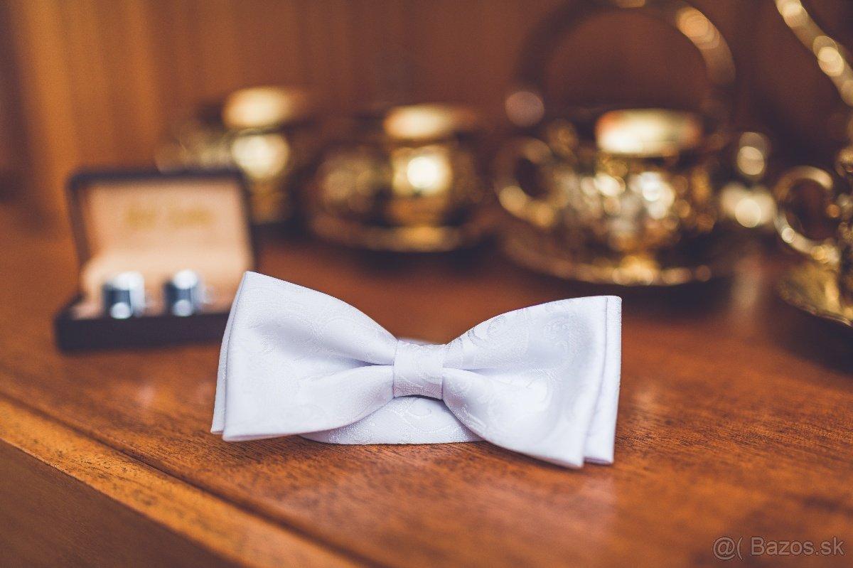 Svadobný motýlik a svadobné manžety - Obrázok č. 1