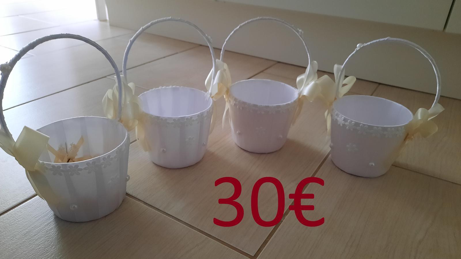 Košíky pre družičky 4ks - Obrázok č. 1